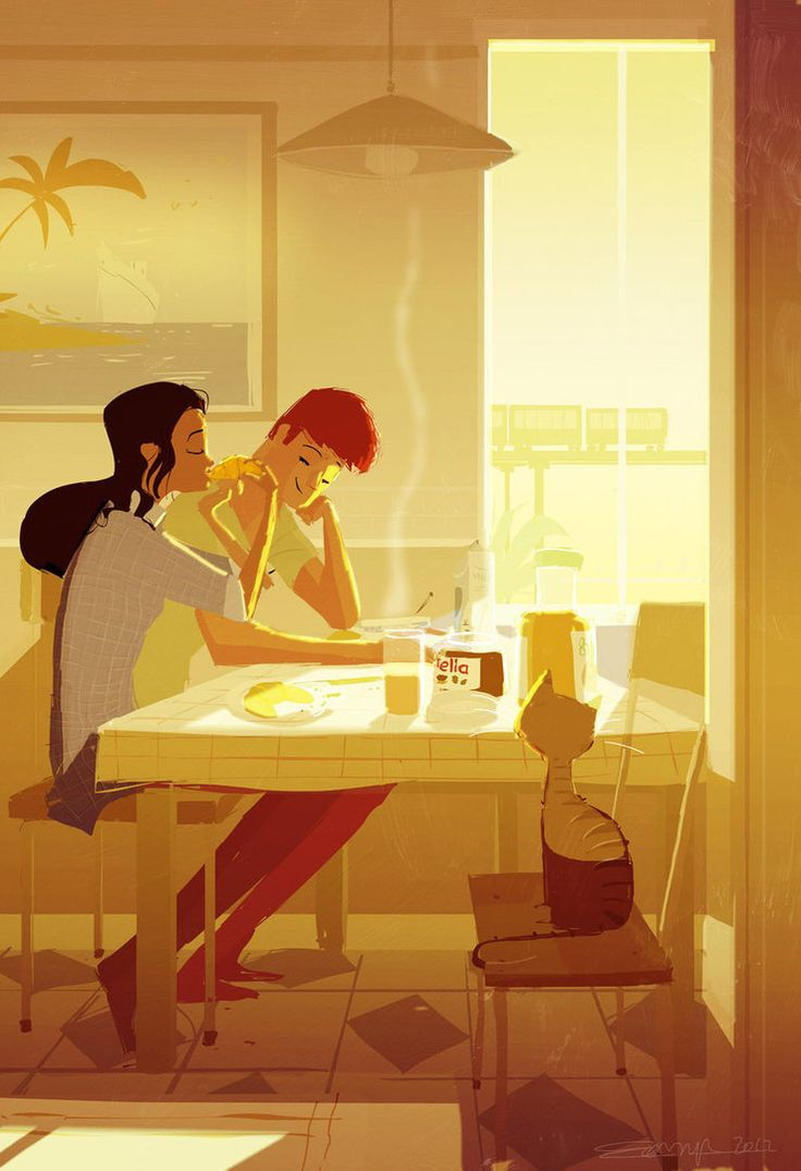 Pascal Campion - Morning Sun. Love this guy's workArtists, Warm Colors, Pascalcampion, Breakfast, Mornings Sun, Colors Painting, Illustration Art, Dreams Life, Pascale Campion