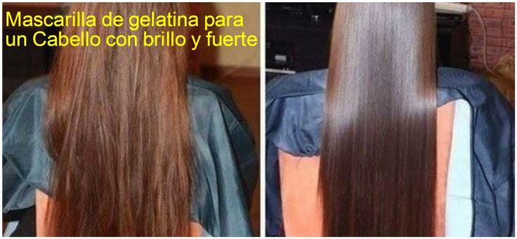 Mascarilla de gelatina para un cabello con brillo y fuerte