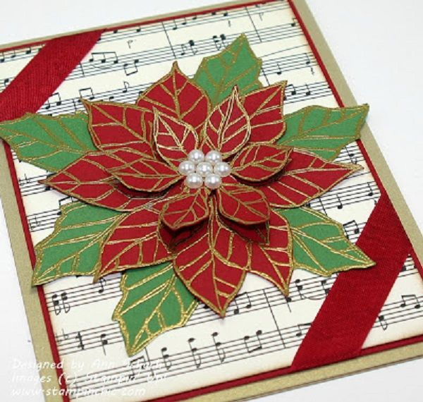 Could be an interesting design with christmas carols behind the poinsettia
