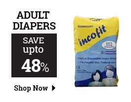 Get huge discount on disposable adult diapers at healthgenie. Buy online best brand of elderly and adult pull up diapers in large and extra large in India and save upto 48% on each product of adult diaper. http://www.healthgenie.in/elderly-care/ec-adult-diapers