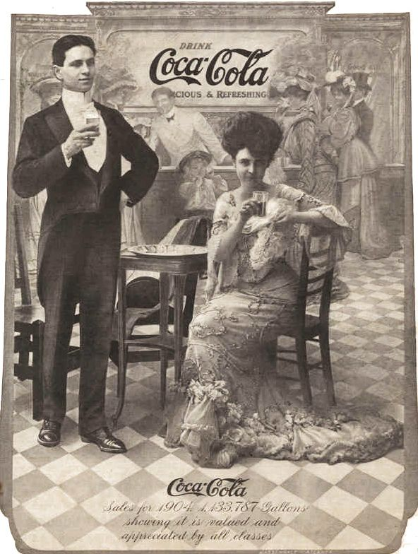 "The old days sure were fancy with their advertisements. ""Drink Coca-Cola, 1904."" Coca-Cola Coke #coke #coca-cola"