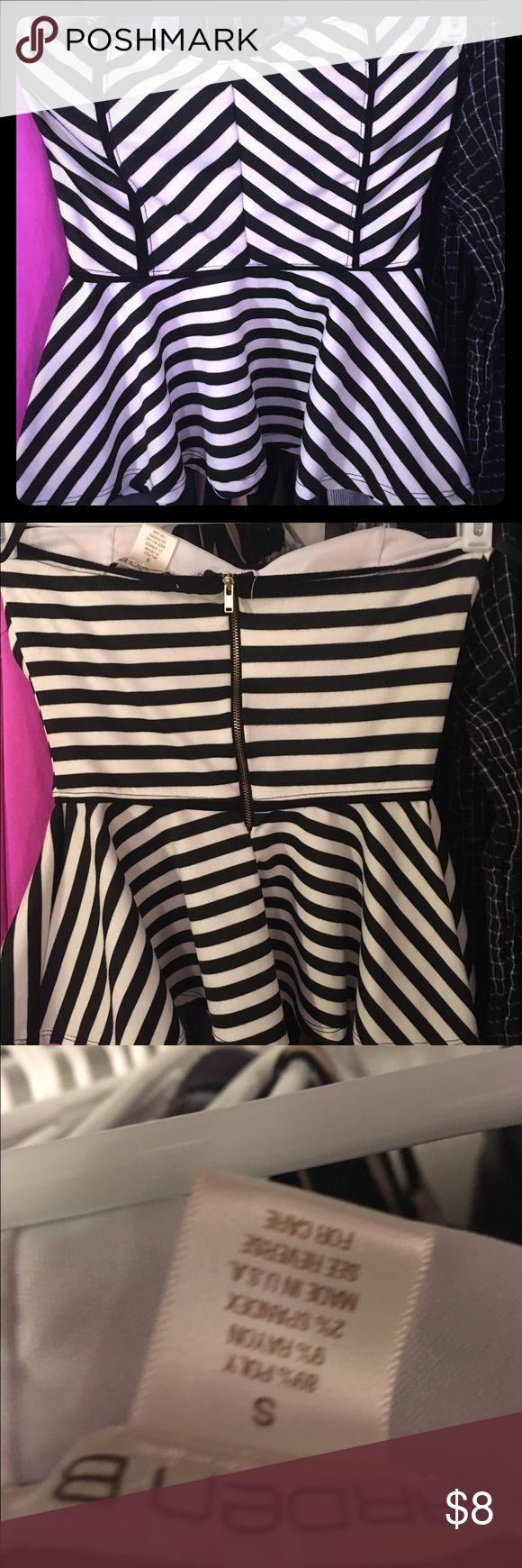 Super cute striped tube top Black and white striped tube top. Arden B Tops Tank Tops