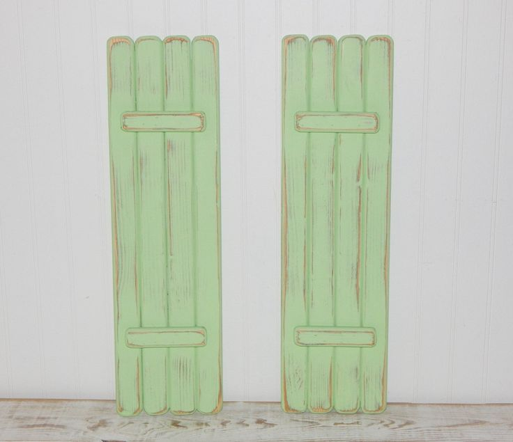 Wooden Shutters Interior Shabby Rustic Shutters Coastal Beach Cottage Decor by HensNestTreasures on Etsy