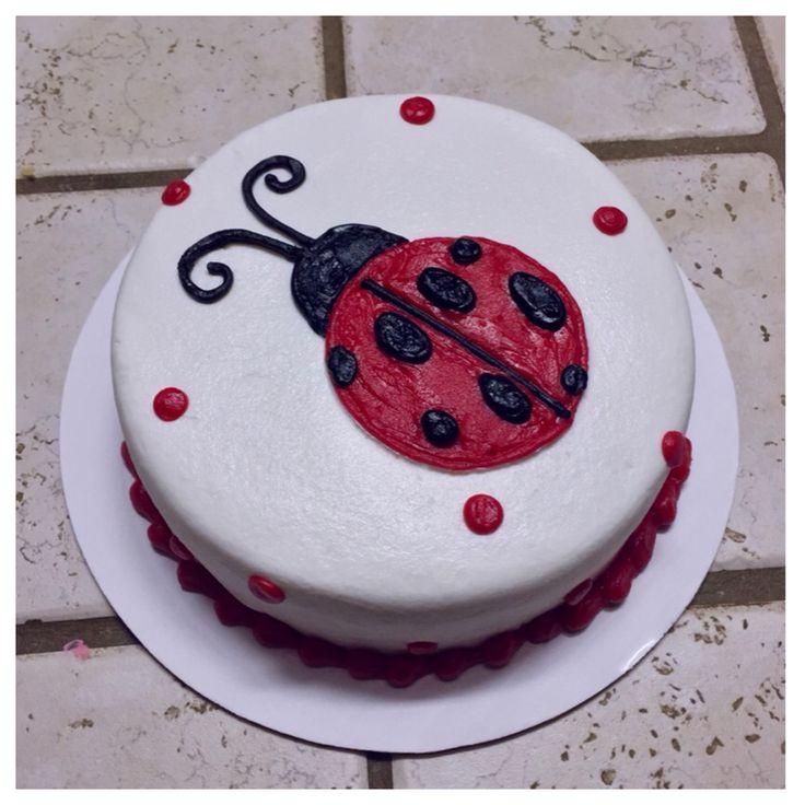 Ladybug smash cake :)