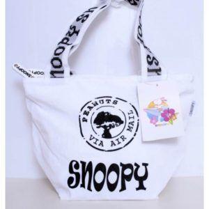 Snoopy Peanuts Borsa Bambina/ragazza/donna con manici Colori bianco con stampe nere