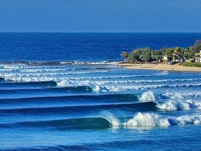 A surfers' paradise at Snapper Rocks