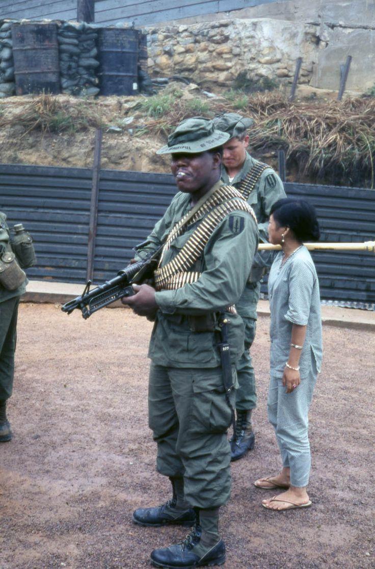 M60 gunner of the 1st Signal Brigade, Qui Nhon.