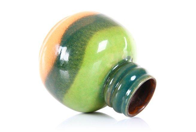 Jasba Layered Green Vase - Mr. Bigglesworthy Designer Vintage Furniture Gallery