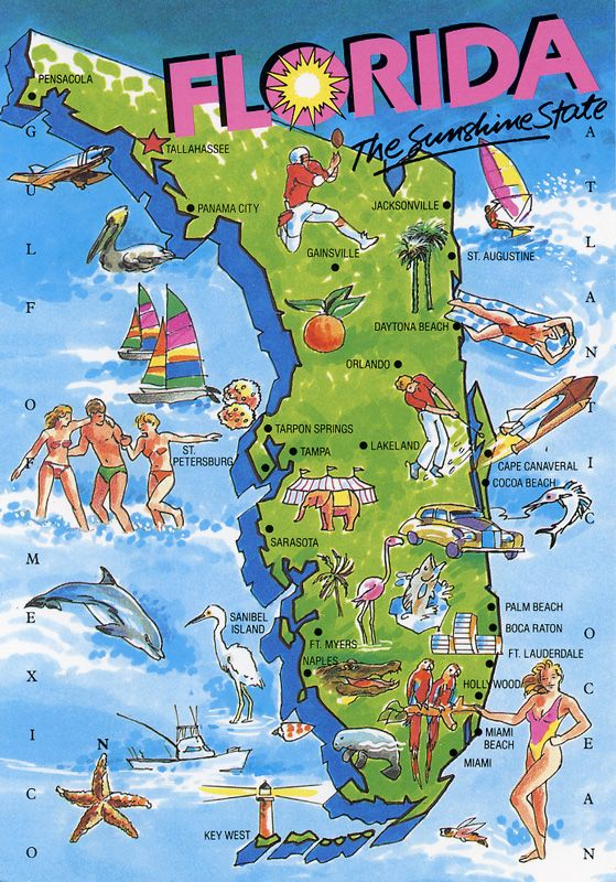 Florida Destinations Pinterest Sunshine State Beach And - Map 0f florida