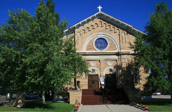 Sacred Heart Church in Glendive Montana