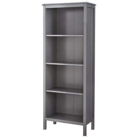 Windham 4-Shelf bookcase - Gray - Threshold™ : Target  60.000 inchesH x 22.680 inchesW x 12.400 inchesD