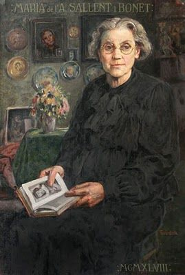 "Josep Guardiola Bonet (Barcelona, 1869 – 1950) What a lovely painting of an aging woman...capturing her ""grace""...<3"