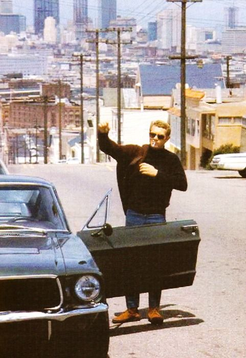 Steve McQueen in Bullitt. '70's San Francisco.: 70S San, Legends, Muscle Cars, Old Mustang, Steve Mcqueen, Movie, Stevemcqueen, San Francisco, Vintage Style