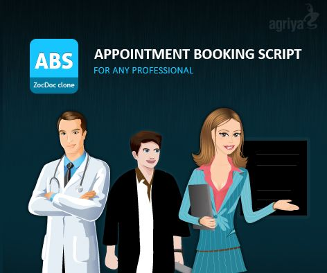 Now it is easy to instantly connect with doctors,dentist and lawyers etc.. with Agriya's ABS - #zocdoc clone   For more about ABS: http://customers.agriya.com/solutions/zocdoc-clone
