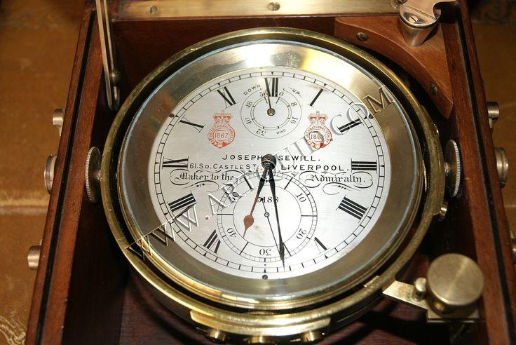 Chronometre de Marine Joseph Sewill Liverpool rms scyhtia.  La Timonerie - Antiquités De Marine