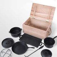 DeinDeal - Home & Living - 9-tlg. Kochtopf-Set «Dutch Oven»