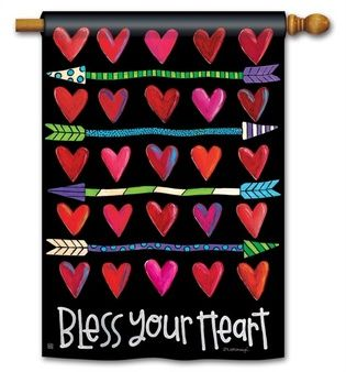Hearts And Arrows Garden Flag From Just For Fun Flags. Let Love Strike This  Valentines Day With This Hearts And Arrows Garden Flag By Artist Lori  McDonough ...