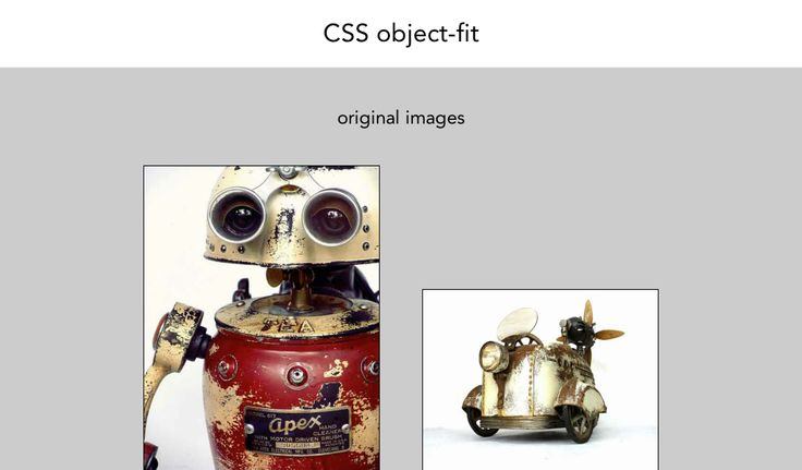 Thumbnails css object-fit