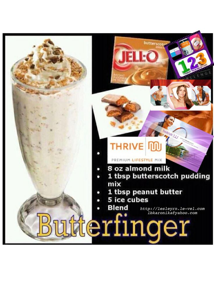 Butterfinger shake with Thrive! http://thrivekatie.le-vel.com