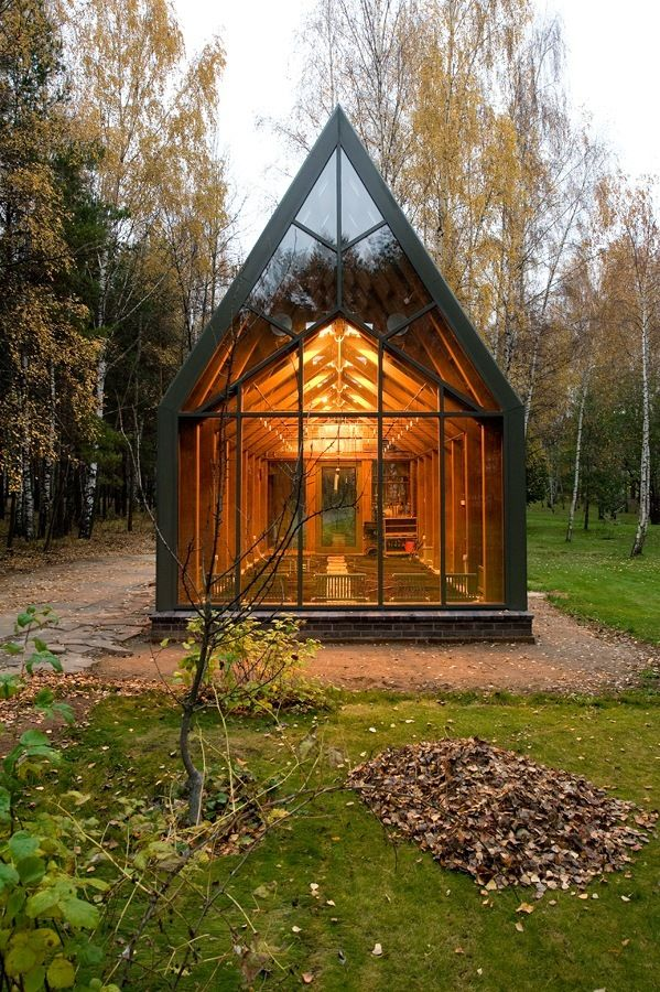 It's actually a greenhouse, but I'm thinking a little more broadly in its use.....like building it on the slope of a Montana mountain and looking up at the roof/ceiling to watch the snow fall in  Winter and endless constellations in Summer.