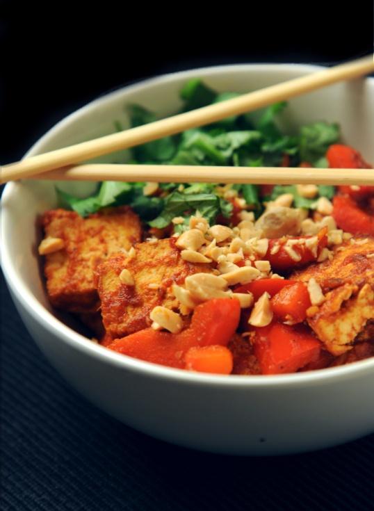 Red hot chilli tofu