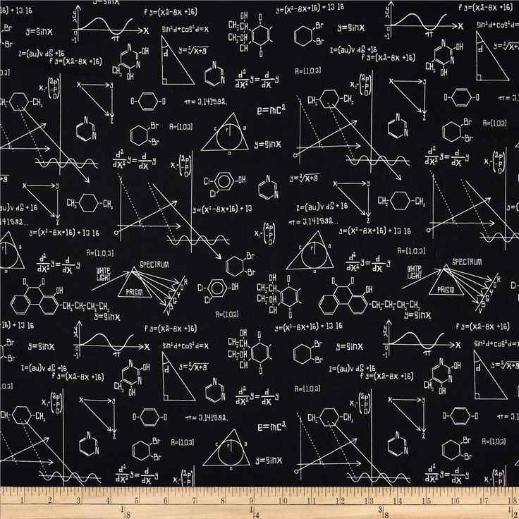 Science Fair Formulas Black from @fabricdotcom  Designed by Rani Child for Robert Kaufman, this cotton print fabric is perfect for quilting, apparel and home decor accents. Colors include black and white.