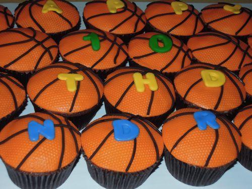 Капкейки Боскетбольные мячи. .  Делала для сына знакомой, сначала она хотела торт на баскетбольную тему...