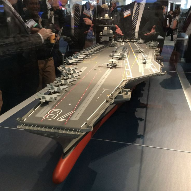 Model of the newest aircraft carrier, USS Gerald Ford (CVN-78) at the annual Sea-Air-Space Expo.