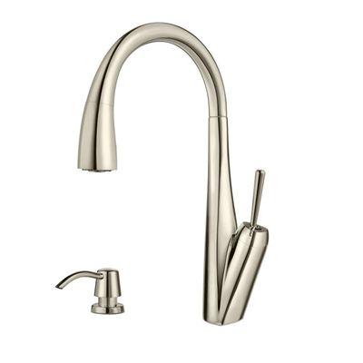 Pfister Kitchen Faucet F 529 7sbd Sybaris Polished Nickel 1 Handle