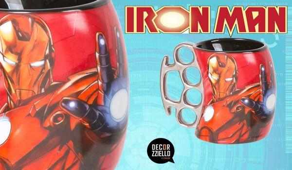 Caneca soco inglês Iron Man #caneca #canecasocoinglês #ironman #homemdeferro #decorzziello #presentescriativos