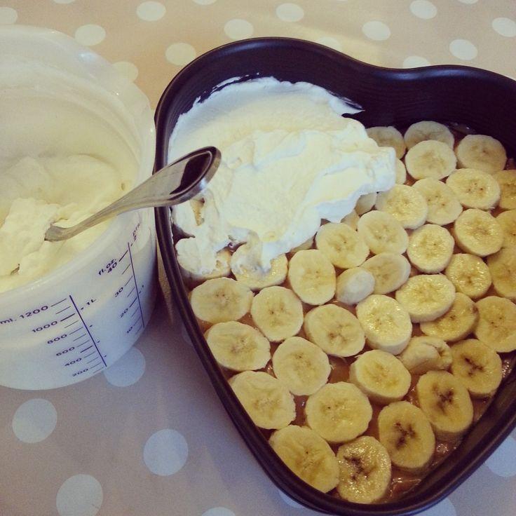 Bananen-Toffee-Kuchen ohne backen #Rezept