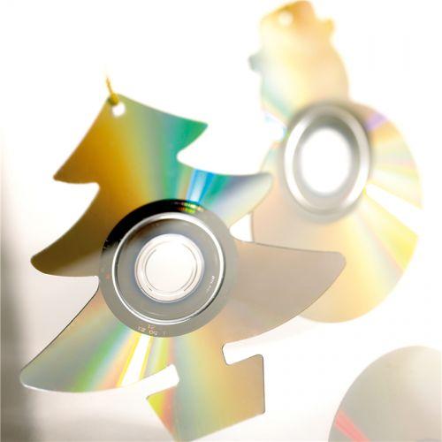 Adornos de Navidad hechos con cd #manualidades #navidad #DIY #crafts