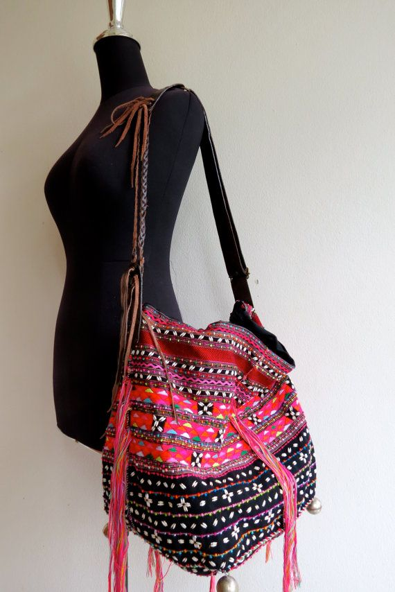 Ethnic Handmade Handbags- vintage fabric- Tote-bohemian bags and purses-from…