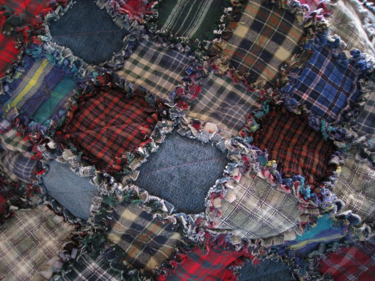I Made This Rag Quilt From Old Flannel Shirts And Jeans