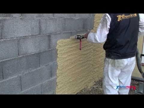 Enduit mural chaux faire des fausses pierres - YouTube