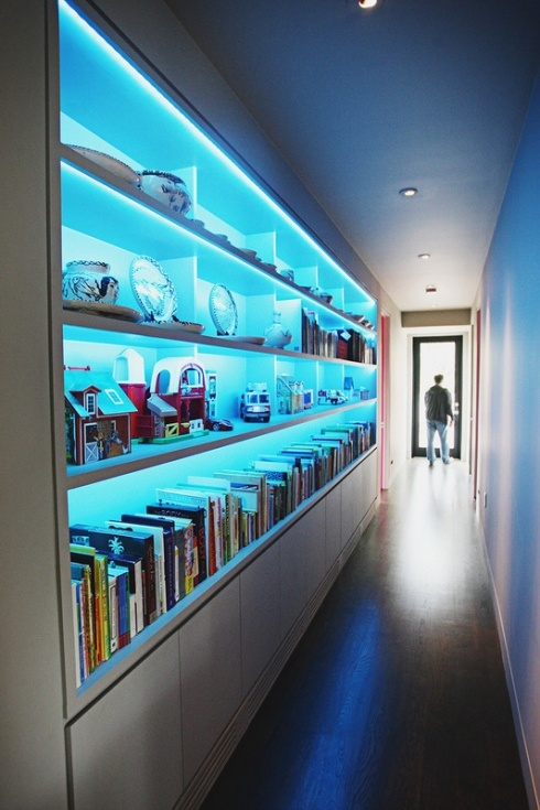 Boys' playroom/library study