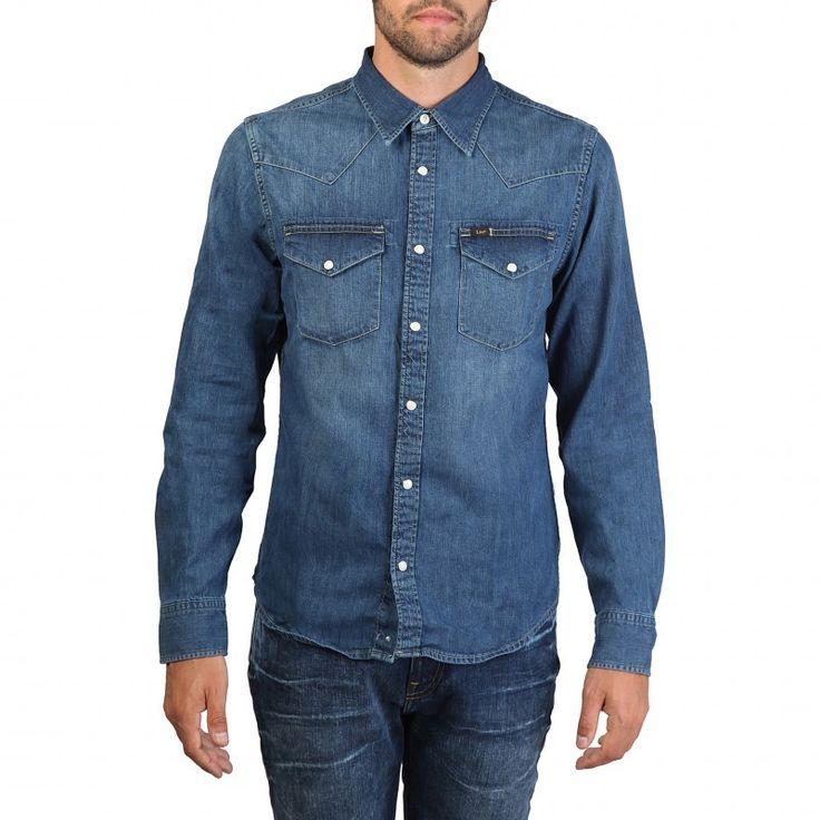 Camisa vaquera Hombre LEE L643AFVI  #lee #camisa #vaquera #moda #modamasculina #hombre #algodon #tiendaonline #tienda #otoño