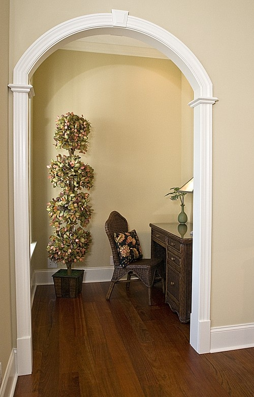 Living Room Arch Decorations: Arch, Wall And Trim Colors