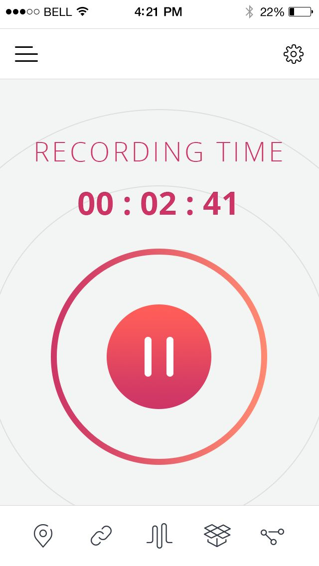Take your time to use Lumemo voice recorder. Check out its bright and modern design.