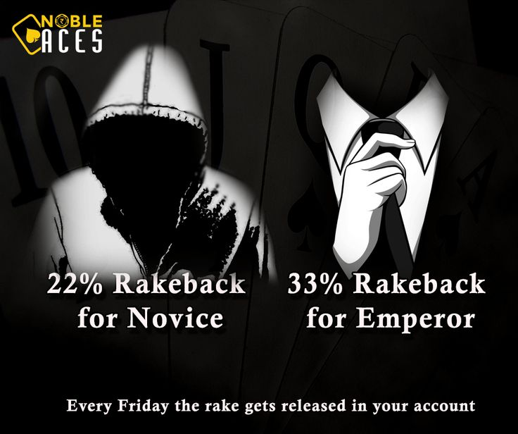 We believe in giving back to all our players. This is for EVERYONE. NO bonus code required. On FRIDAY every week the rake gets released into your account. An e-mail and a whatsapp message will be sent to you informing you about the release of the funds. Thank you for being the part of Nobleaces family! #Nobleaces #OnlinePoker