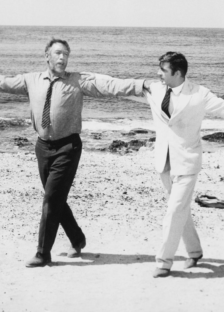 Anthony Quinn and Alan Bates in Zorba the Greek, 1964