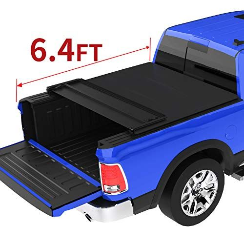 Oedro Quad Fold Tonneau Cover Soft Four Fold Truck Bed Covers Compatible For 2002 2019 Dodge Ram 1500 2019 Classic On Truck Bed Covers Truck Bed Tonneau Cover