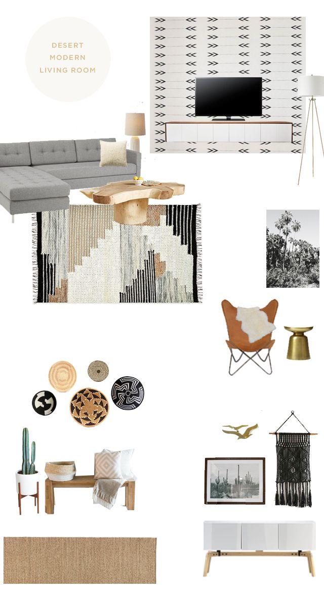 desert modern living room