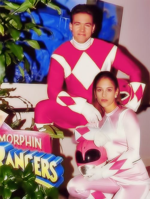 Austin St. John and Amy Jo Johnson
