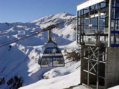 Samnaun, Switzerland - world's only double decker gondola!