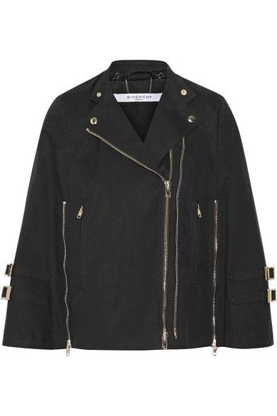 Givenchy - Washed Cotton-blend Canvas Cape - Black - FR36