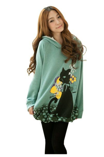 Happy Cat In The Garden Hoodie #hoodie #girls #cats #kitties #kitten @kittypurring $30