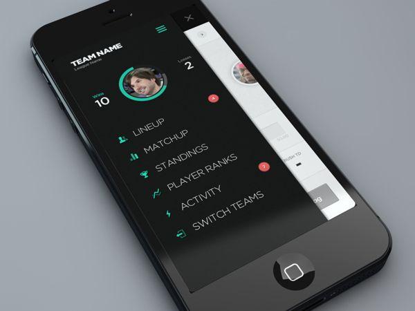 Fantasy Leagues #App by Brian Waddington, via #Behance #Mobile