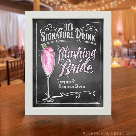 Wedding Decoration | Signature Drink Sign | Personalized, Made to Order Gatsby…