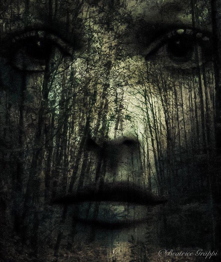 Facing woods  Double exposure, Digital art